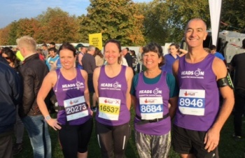 Staff team go the distance for Heads On, raising over £2,000