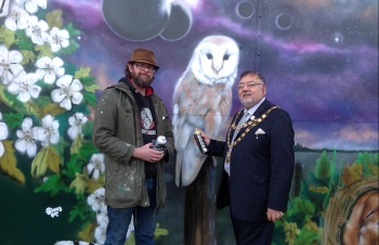 Mayor of Crawley opens new artwork at Langley Green Hospital