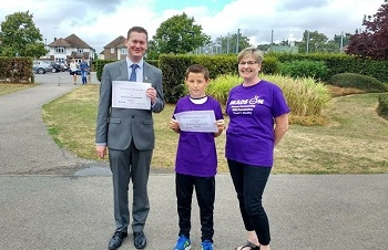 Christopher raises £400 for Heads On and Round Table matches him