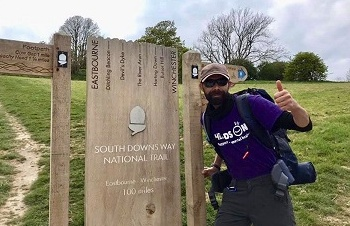 John Completes 100 Mile South Downs Way for Heads On