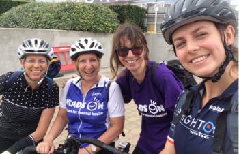 Heads On Cyclists Step up a Gear for London-Surrey Bike Ride